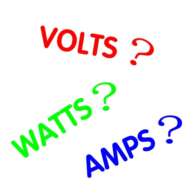 Volts, Watts, Amps, Kilowatt Hours, What Does it All Mean ? - The Basics of Electricity. This hub explains all about watts, amps, volts, kilowatt hours (kwh), ohms and how to convert between them. It shows you how to work out power consumption and cost of running appliances and includes a brief explanation of AC and DC