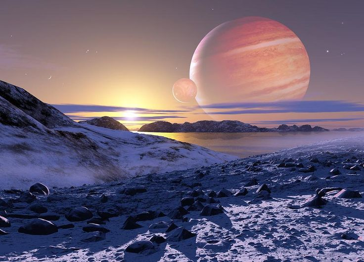 Jupiter From Europa, Artwork Photograph by Detlev Van Ravenswaay