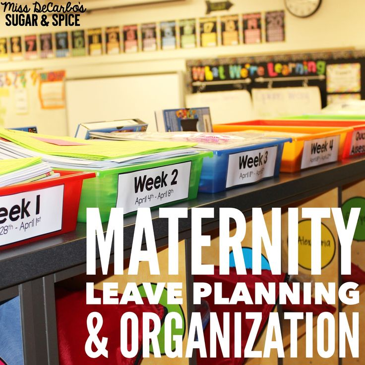 Miss DeCarbo: Maternity Leave Planning & Organization (also great ideas for organizing a sub tub)