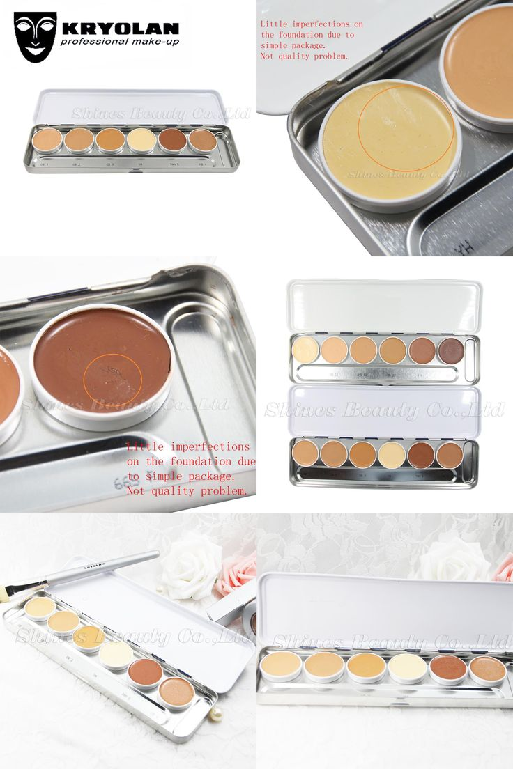 [Visit to Buy] KRYOLAN ULTRA FOUNDATION PALETTE 6 COLORS High Coverage Corrective makeup Foundation Transparent application of Ultra Foundation #Advertisement