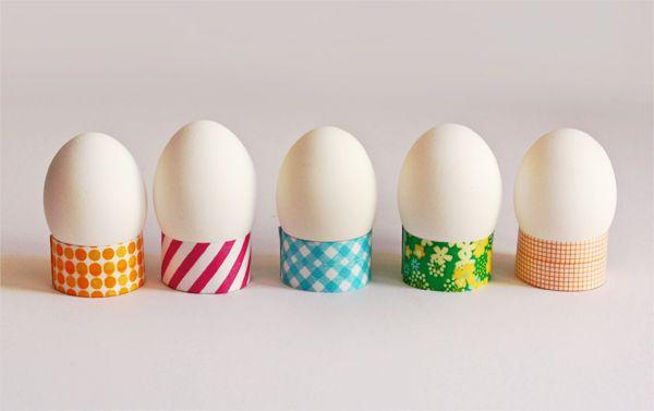DIY washi tape Easter egg holders