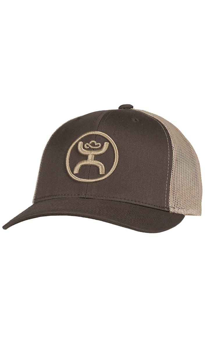 HOOey Men's Cody Ohl Brown with Tan Logo & Mesh Back Cap