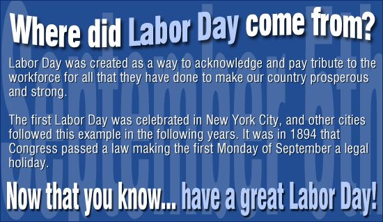 What is Labor Day? Happy Labor Day!