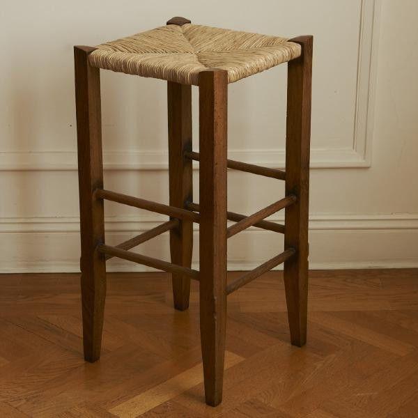 Tapered Leg Kitchen Barstool #barstool #custommade #oakwood #cherrywood #canetop #interiordesign #homedecor