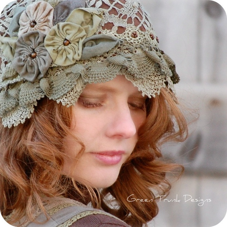 Woodland Flapper Cloche Hat. $155.00, via Etsy.