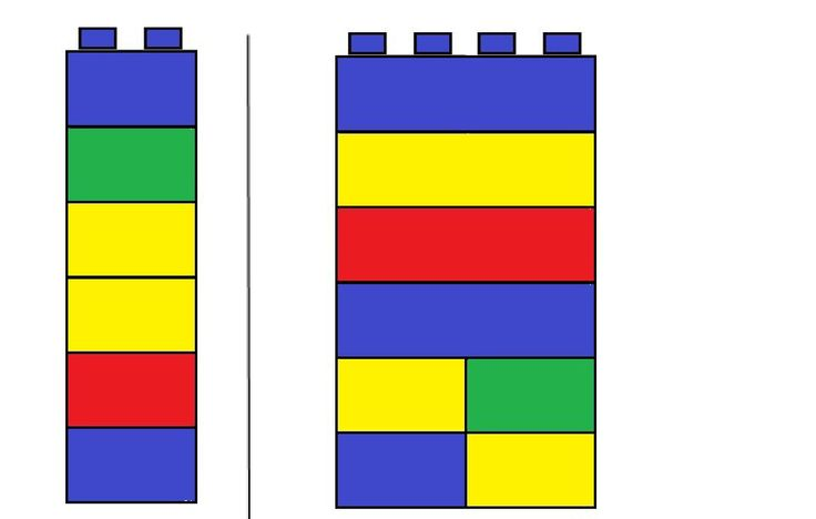 Legoblokken opdrachtkaart