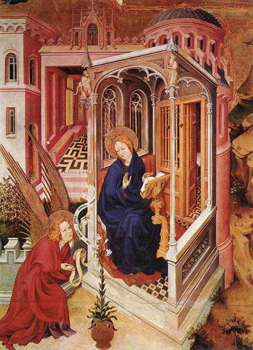 Брудерлам, Мельхиор (BROEDERLAM, Melchior) (Ок. 1328—1409) - Благовещение (деталь створки Дижонского алтаря)