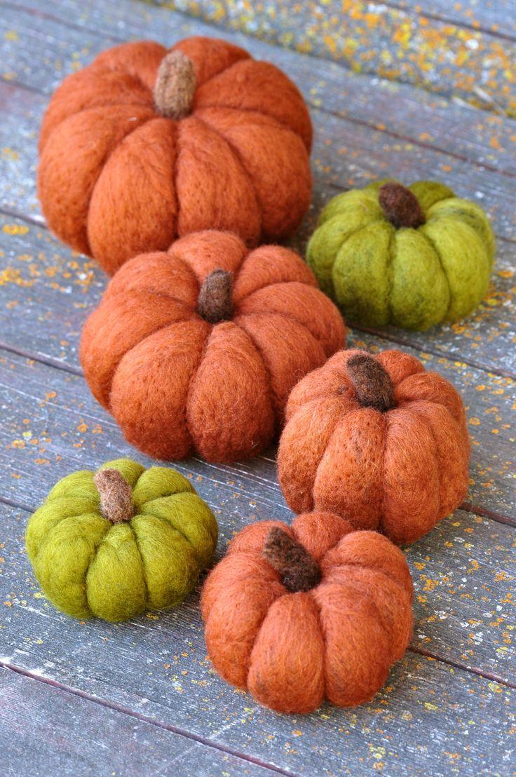 Needle Felted Pumpkins by Teresa Perleberg