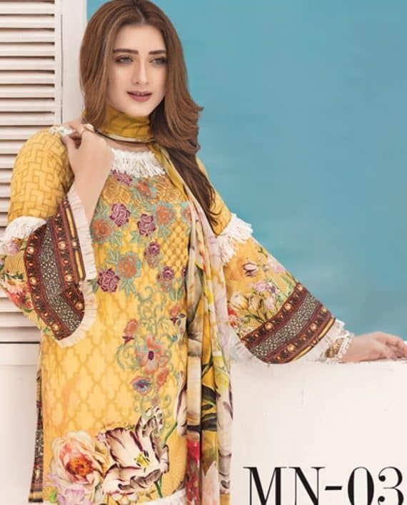 53a76996f6 Pin by Umar Poshak Mehal on MAYANAZ Print Embroidered Lawn By Nur Series  Collection 2018 | Lawn, Collection, Kimono top