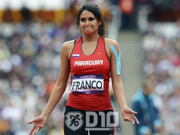 Leryn Franco no pudo mejorar su marca en lanzamiento de jabalina y se despidió de Londres 2012.