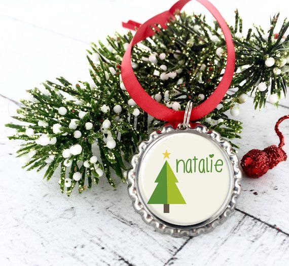 Custom Name Christmas Tree Ornaments Christmas Gifts For Friends Christmas Gifts For Coworkers Personalized Christmas Ornaments