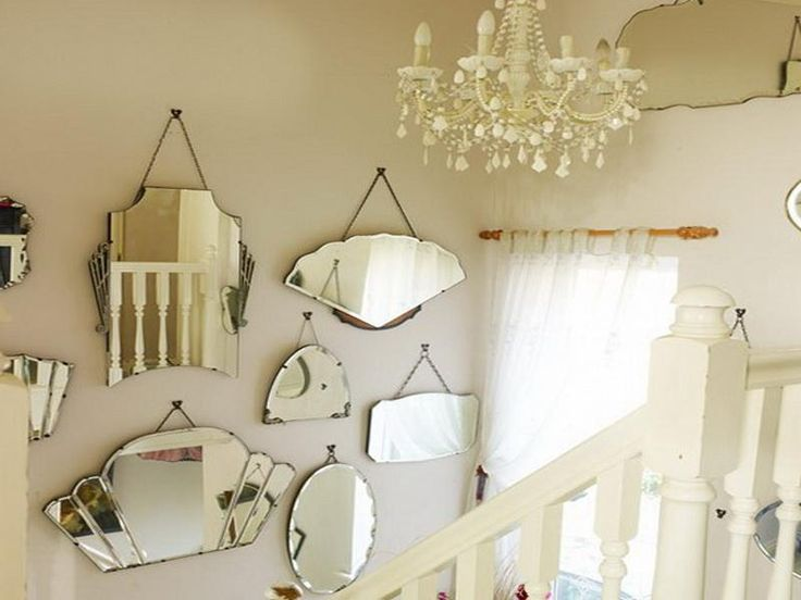 stairway decorating mirrors - Decorating With Mirrors