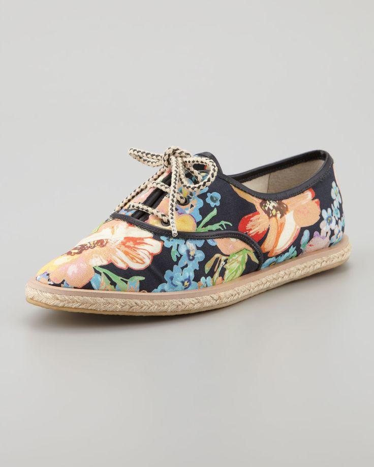 Loeffler Randall Odile Floral Espadrille Tennis Shoe