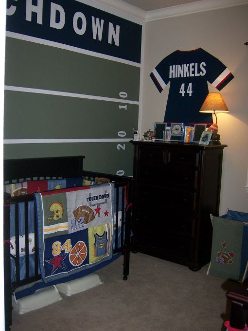 Football Field Paint Idea Awesome For Our Little Reese S Room Find This Pin And More On Sports Themed Nursery