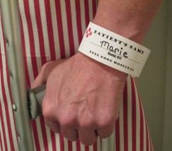 Clever nametag for that medical party theme