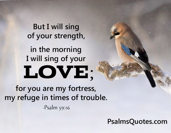 Psalm about Love - Psalm 59:16