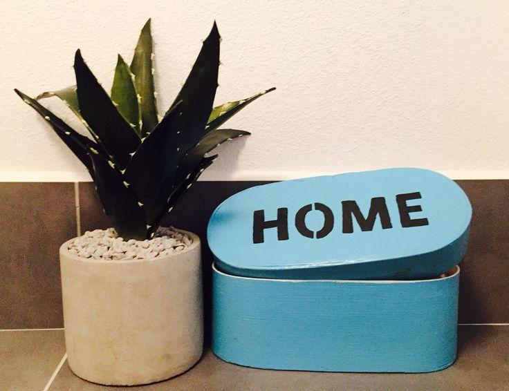 #blue box HOME