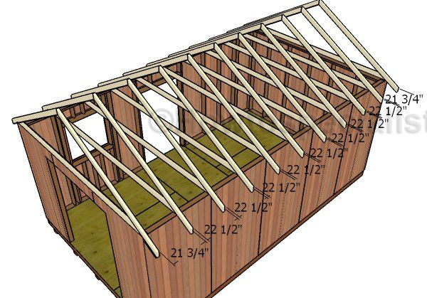 12x20 Shed Plans Free Howtospecialist How To Build Step By Step Diy Plans Gable Roof Design Gable Roof Roof Plan