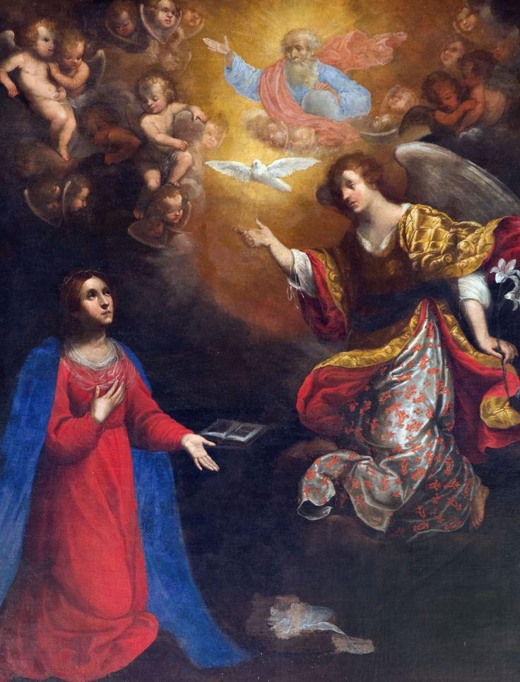 Pittore di inizio sec. XVII, Annunciazione, Cerreto di Spoleto, chiesa di santa Maria della Visitazione