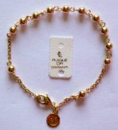 Apparition Gold Rosary Bracelet.