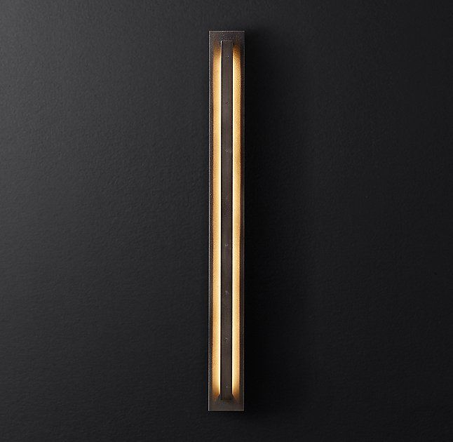Peralta Sconce- RH (thinking on wood beam along brick wall in raised area/bar zone)