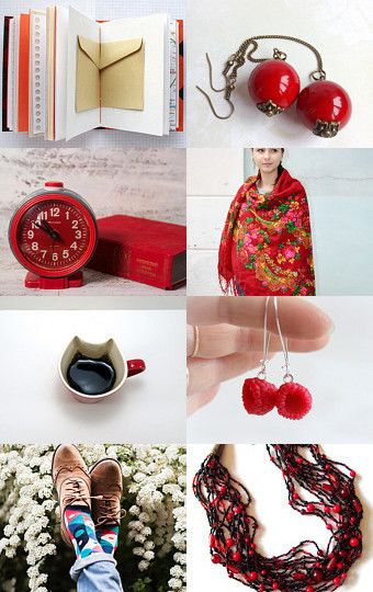 red spring by Chiara Musso on Etsy--Pinned with TreasuryPin.com