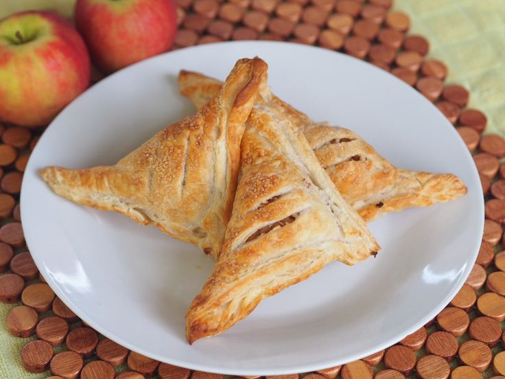 Apple and Cinnamon Pastry Triangles