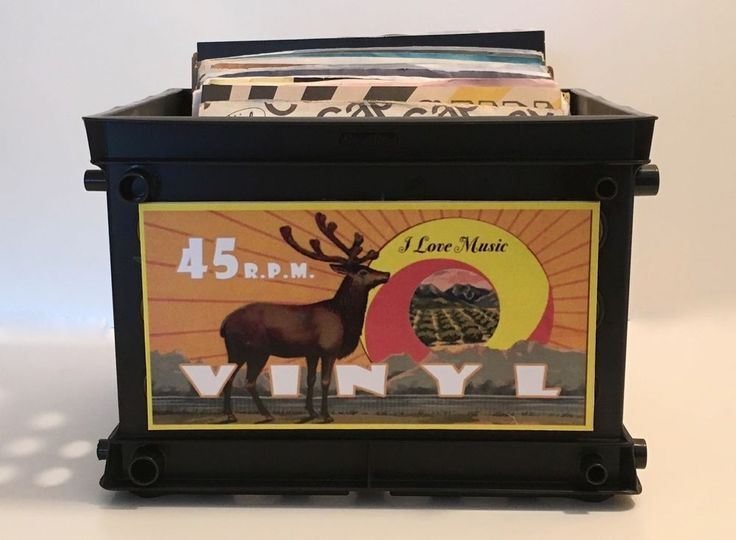 Retro Style Mini Record Crate for 45 rpm's / Great for your 45s (Holds 75) #Unbranded