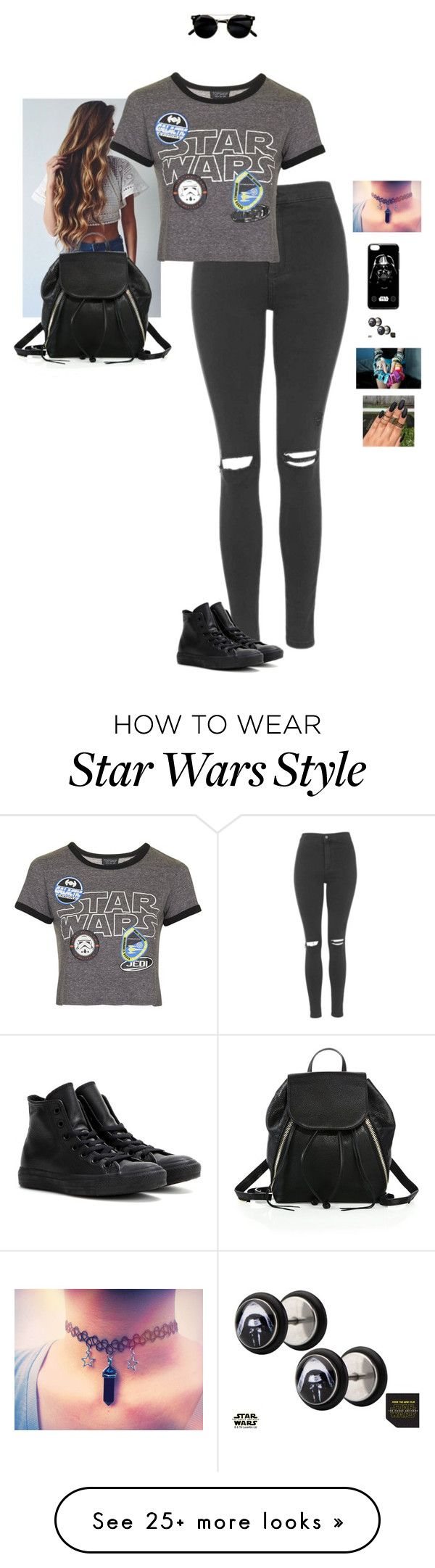 """""""i'M bRoKeN"""" by hanakdudley on Polyvore featuring Topshop, Converse and Rebecca Minkoff"""