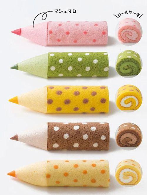 """""""色鉛筆""""のようなマシュマロと食べるロールケーキ 「色えんぴつろーる」大阪新阪急ホテルに登場   ファッションプレス"""