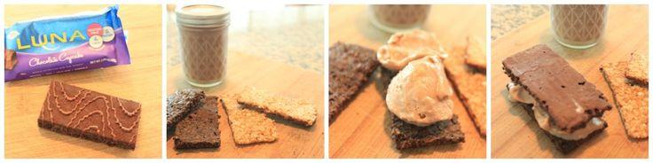 Healthy Dessert Hack: Gluten Free LUNA Bar Ice Cream Sandwiches - Eat. Drink