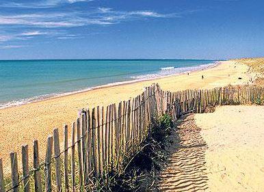 Vendee beautiful sandy beaches