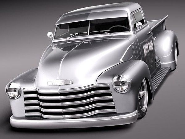 3d chevrolet pickup 1950 oldtimer chevrolet pickup 1950. Black Bedroom Furniture Sets. Home Design Ideas