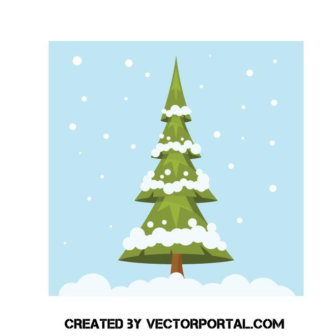 Christmas Tree Vector Clip Art Vector Free Free Clip Art Art