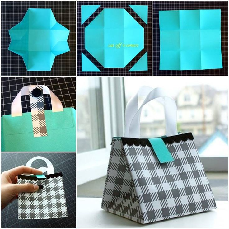 How to DIY Folded Paper Gift Bag | www.FabArtDIY.com