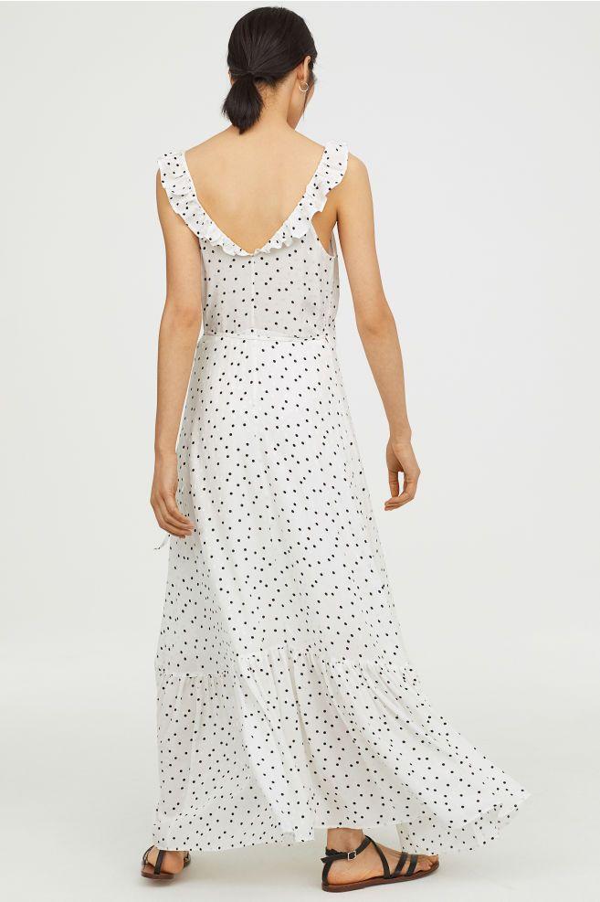 89c8d28a94ff Long flounced dress | Dresses | Dresses, Wrap dress i Formal dresses