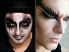 halloween-makeup-ideen-maenner-schwarze-ringe-augen-schminken