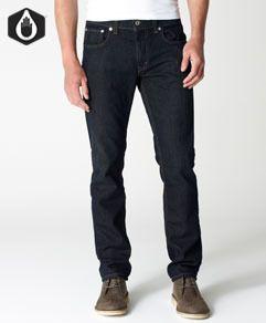Mens dark jeans.