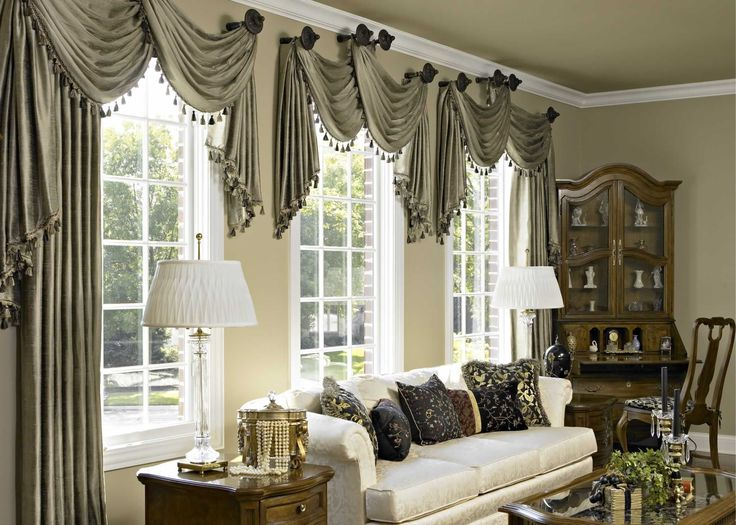 accesories decorsgray fabric scarf over valance as window treatment for spring living room window treatment ideas added white couch and corner cabinetry