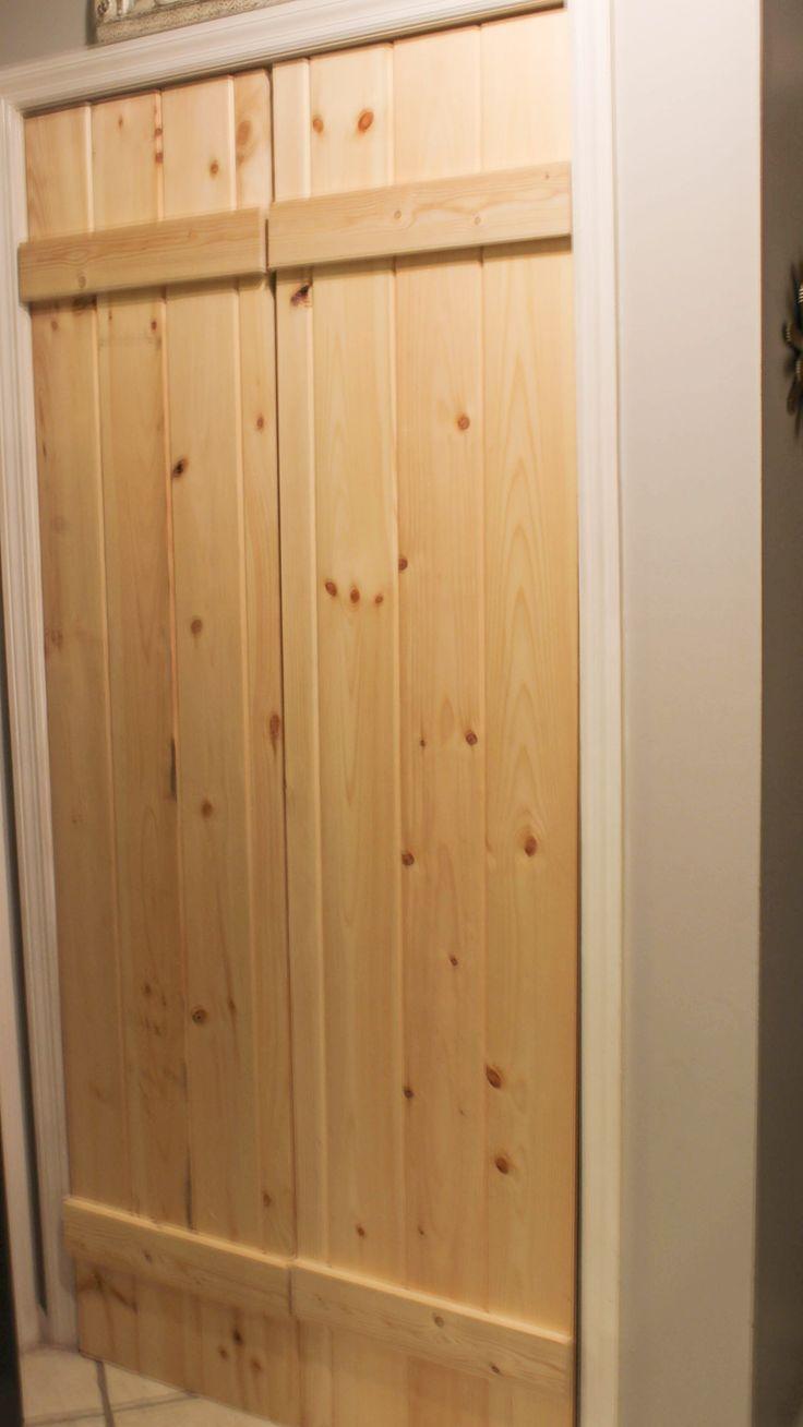 Double Pantry Barn Door Diy Under 90 Bifold Pantry Door Diy Pantry Doors And Barn Doors