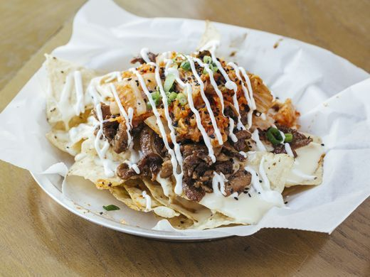In Chicago, Seoul Taco offers its Seoul Nachos with