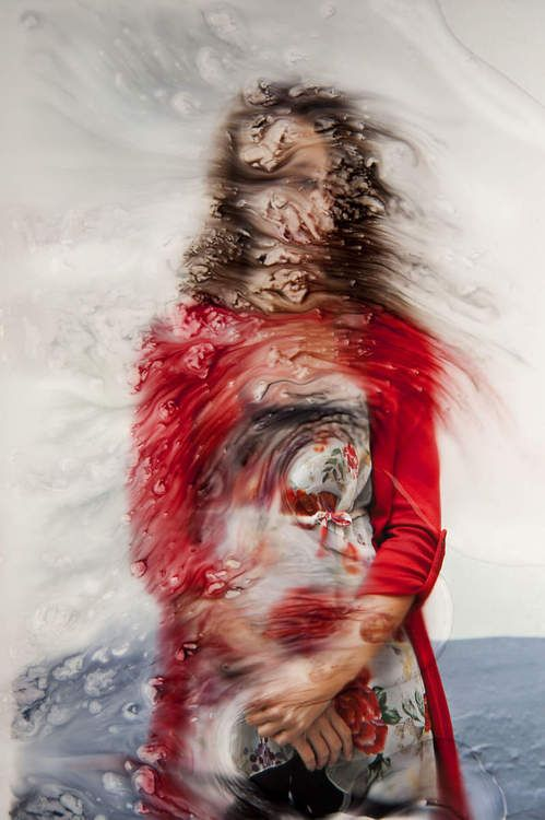 """See by Angelica Garcia """"These photographs are part of a personal work...all images are manipulated on their surface and photographed again as they change"""""""