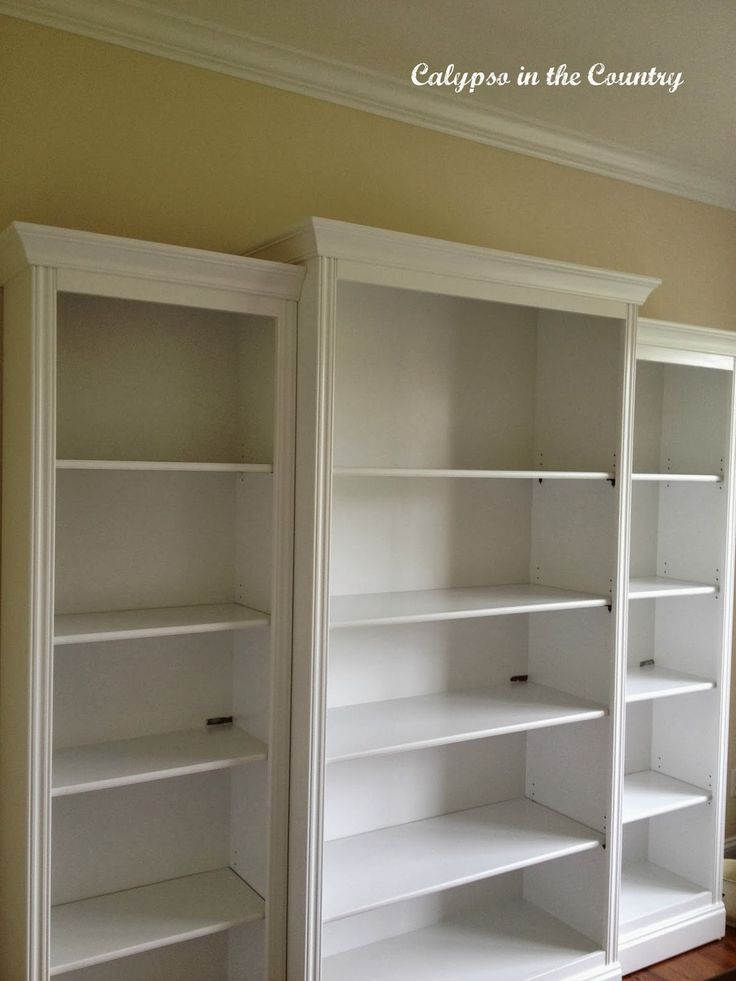 The Bookcases are Painted! - 23 Best Painted Bookshelves Images On Pinterest Painted