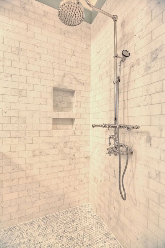 Its Raining Indoors  |   Rain Showers are the hot new shower trend.  we can help you pick the perfect features to deck out your custom oasis ---> #walkin #shower #craftsman