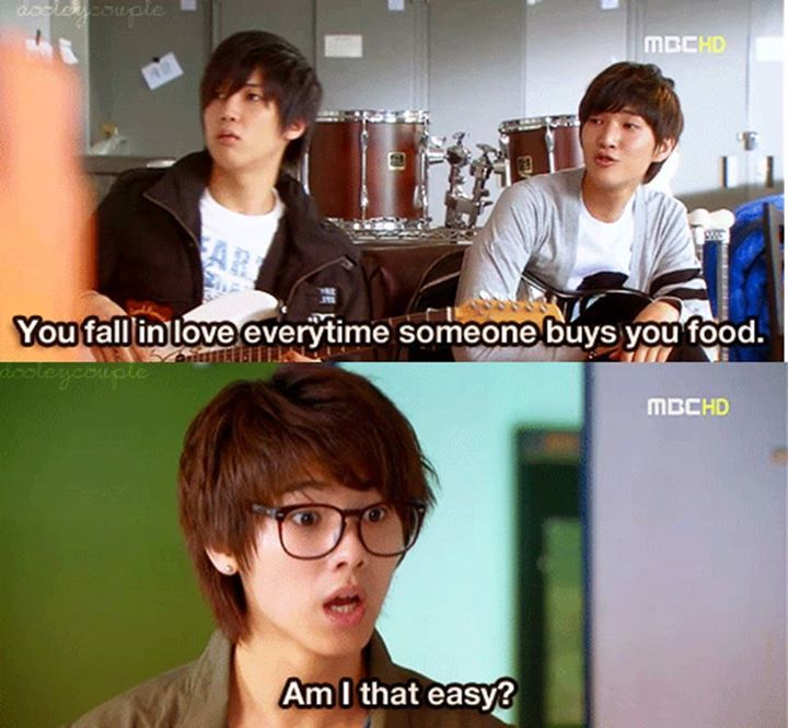 Minhyuk-ah. I'll buy you buckets of food. Love me? xD