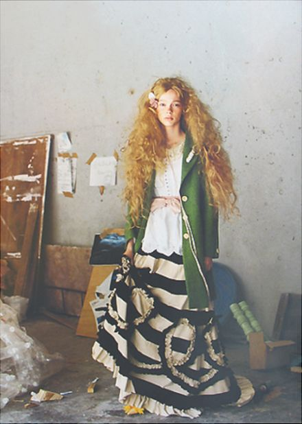 ArtistStyle, Dreams Hair, Black And White, Green, White Shirts, Stripes Skirts, Striped Skirts, Big Hair, Fashion Photography