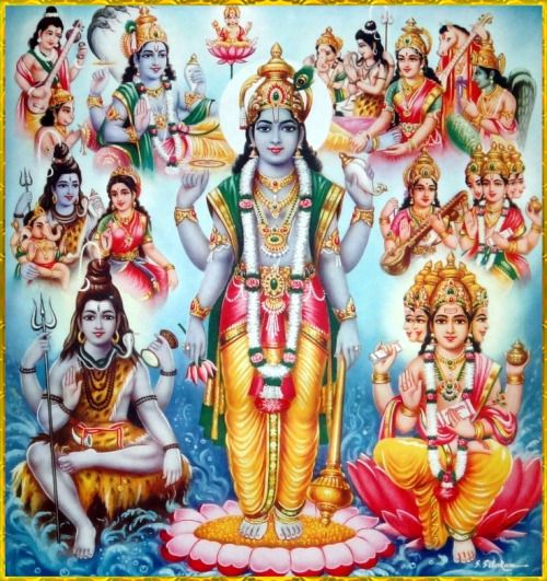 """✨ Brahma Vishnu Maheshvara ✨King Prithu spoke:""""Any person upon whom the brahmanas and Vaishnavas are pleased can achieve anything which is very rare to obtain in this world as well as after death. Not only that, but one also receives the favor of the auspicious Lord Shiva and Lord Vishnu, who accompany the brahmanas and Vaishnavas.""""~Srimad-Bhagavatam 4.22.8"""