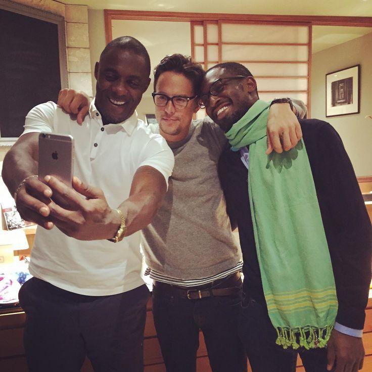 Uzodinma Iweala, Idris Elba and Cary Fukunaga. Writer, Actor and Director of Beasts of No Nation. Talented dudes.