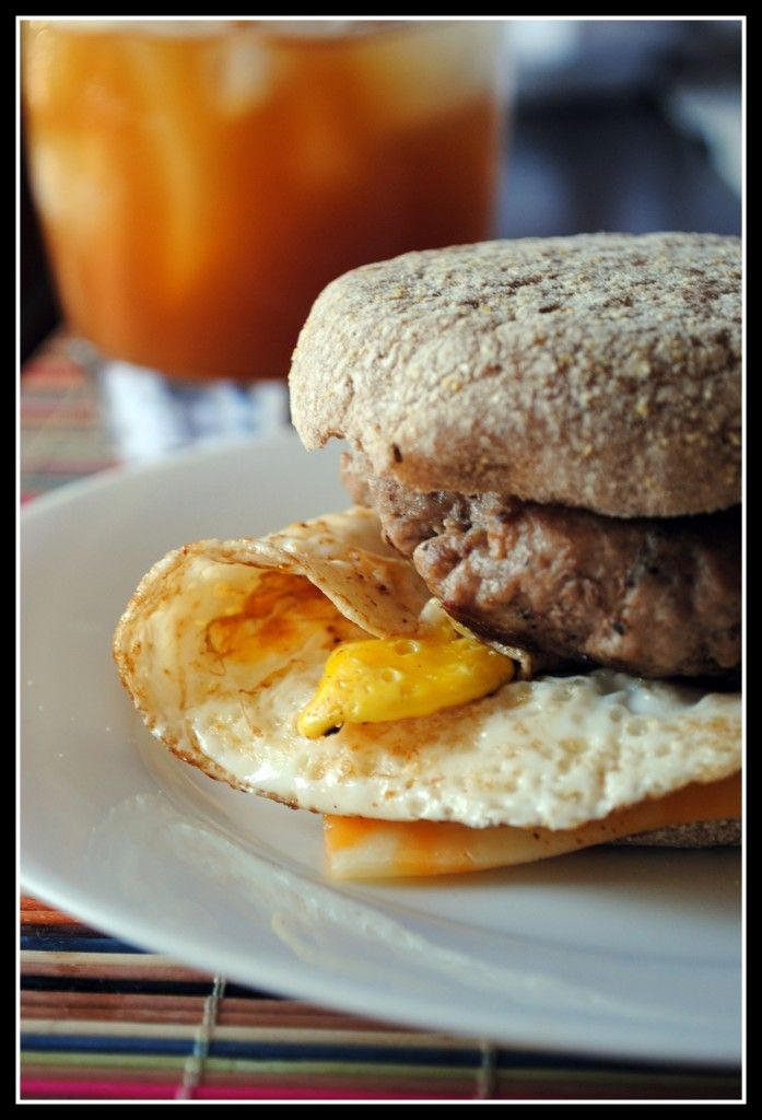 Sausage, Egg, and Cheese McMuffin! 100 calories less, 14 grams of fat (52% less!), 37% less sodium, 14 grams more protein, and 2 grams more fiber.
