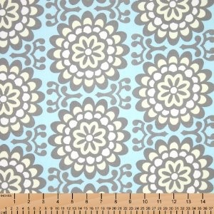 I like this fabric for a nursery accent pillow.  Or generally an accent pattern.